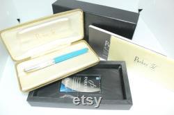 2002 PARKER 51 Empire State Blue Special Edition 18k Fine Fountain Pen