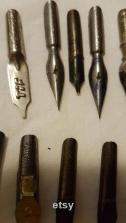 210 nibs Lot of vintage fountain pen nibs