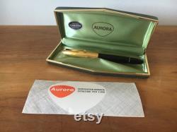 AURORA 88P vintage Fountain pen Case Box instruction manual 14k gold