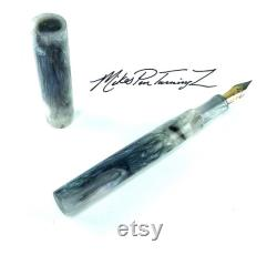 Acrylic Fountain Pen Abalone colored Acrylic See Video Bespoke Kitless Fountain Pen 001BSE