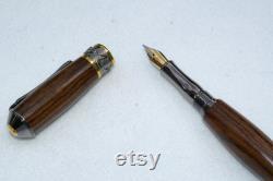 Broadwell Nouveau Sceptre Black Titanium and 22Kt Gold Fountain Pen