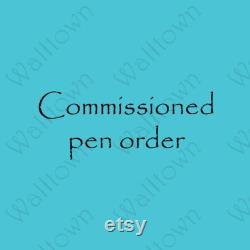 Commissioned Order(A), Eno Model, Fountain Pen, Handmade