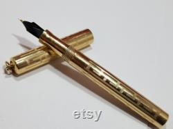 Conklin Lever-Fill Ring-top Fountain Pen Pencil Set withBox (rolled gold Greek Key) 1920's