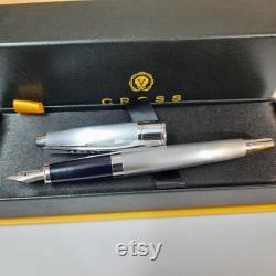 Cross Apogee Fountain Pen Brushed Chrome