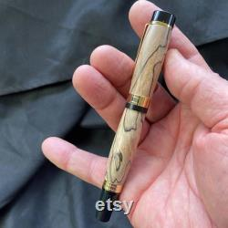 Fifth Wedding Anniversary Fountain Pen In Spalted Maple Wood