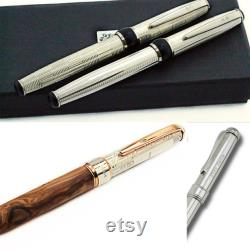 Fountain Pen Black Stingray Leather Sterling Silver Perfect Grip Black Friday Discounts