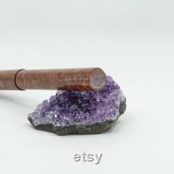 Fountain Pen Handmade English Elm Burr Wood and Resin Hybrid