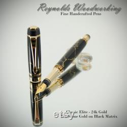 Fountain Pen Handmade Pen Wedding Gift Art Deco Graduation Gift Custom Pen Gift Idea Gold Vintage Appearance American Made