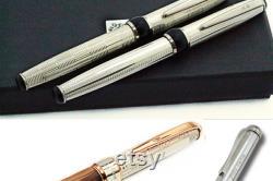 Fountain Pen Sterling Silver Natural Buffalo Horn Italy