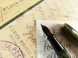 Green Marbled Waterman's Fountain Pen