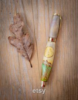 Handcrafted Custom Engraved Fountain Pen, Hand Turned Fountain Pen, Hand Painted Calligraphy Pen, Handmade Father's Day Gift, Luxury Pen