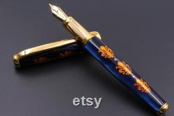 Handcrafted Fountain Pen Florence Art Fleur De Lis Made in Italy Floral pen for Her