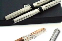 Handcrafted Fountain Pen Sterling Silver Hallmarked 925 Made in Italy