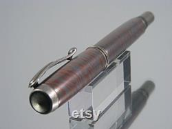 Handmade Fountain Pen, High End Pen in Antique Silver with M3 Metal