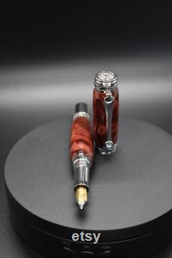 Handmade Fountain Pen Majestic Handcrafted Medium Nib Retirement Promotion Gift Father s Day Gift