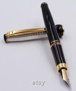 Handmade in Italy Fountain Pen Lacquer and Sterling Silver Personalized with Name