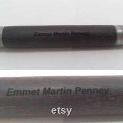 Irish bog oak celtic fountain pen, wooden fountain pen with brass scroll work.