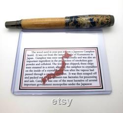 Japanese Camphor Wood Fountain Pen Origami Paper Cap Handmade Pen Wooden Pen -Jowo Nib