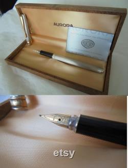 MAGELLANO AURORA fountain pen in sterling silver 925 and gold 14K In box Garantee