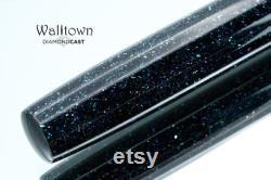 Midnight Radiance DiamondCast, Watts Model, Fountain Pen, Handmade