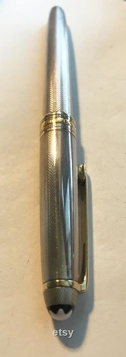Montblanc Masterpiece 1446 -Solitaire Silver- Grain Guilloche 925 Silver, 14K Feather 1970s