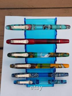 New Clip Options Scarlet Handmade Bespoke Kitless Red Fountain Pen Gibson Pens