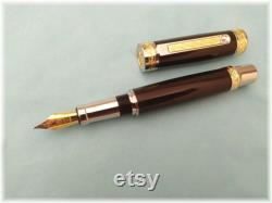 Original handmade ebony wood fountain pen.