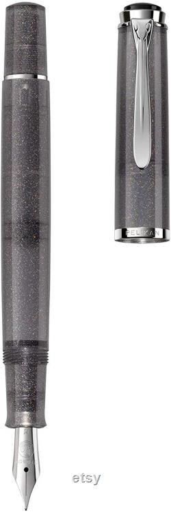 Pelikan Special Edition Tradition M205 Moonstone Fountain Pen, Medium Nib, Gray