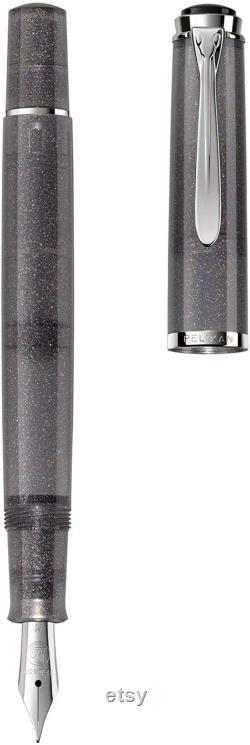 Pelikan Special Edition Tradition M205 Moonstone Pluma estilogr fica, punta media, gris, 1 cada uno (816847)