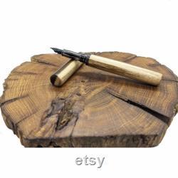 Personalized Laburnum wood fountain pen, custom fountain pen gift