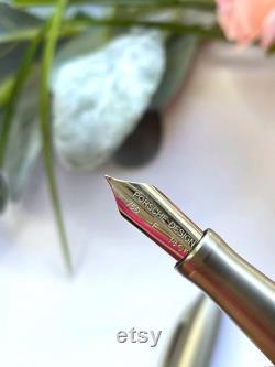 Porsche Design TecFlex Steel Fountain Pen Nib 750F 18ct White Gold 3110