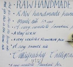 RAW Handmade Fountain Pen Music Nib