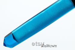 Radiance DiamondCast and Blue Textured, Catsburg Model, Handmade Fountain Pen