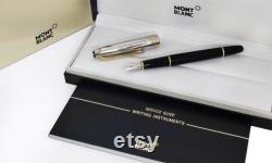 Refurbished Montblanc Meisterstuck Solitaire AG925 Sterling Silver 163 Doue Fountain Ink Pen