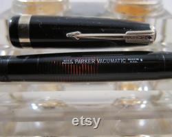 Restored Parker Vacumatic Major Fountain Pen in Classic Black Medium Point Vintage 1945