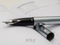 Sheaffer 506X Steel Fountain Pen, Modernist Design Pen, Vintage Fountain Pen, Luxury Ink Pen, Calligraphy Office Pen, SHEAFFER Pen, Man Gift