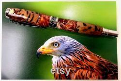 Stunning Red Kite Bird Fountain Rollerball Pen