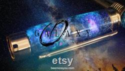 Supernova Meteorite Fountain Pen, Galaxy Art, Real Meteorite Moldavite and Opal, hand-made parts,Aurora Nebula, crystal glow, 23k Gold Nib