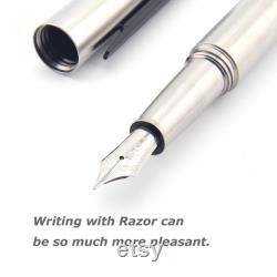 TITANER Razor Fountain Pen Titanium Pen with BOCK 250 Nib