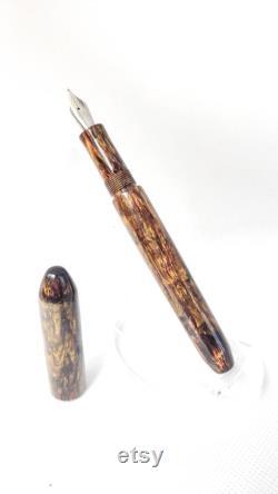 The Mini, Handmade Kitless Fountain Pen in Forged Petina