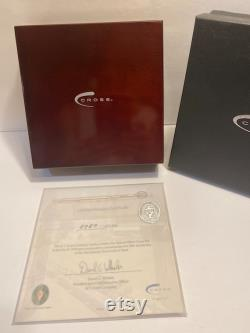 Vintage Cross Fountain Pen Limited Edition Sterling Silver Tennis Hall Of Fame, New In Box, With Silver Cloth, COA, Ink Cartridges, 0787