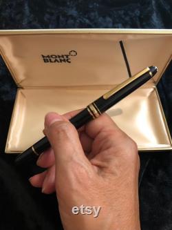 Vintage Meisturstuck Montblanc Black 4810 Fountain Pen Medium Nib White 14K Gold Tip
