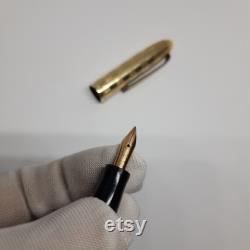 Vintage Mini Zenith Extra Laminato Golden Color Warranted ORO 585 Fountain Pen, Zenith 14k, Old Zenith Fountain Pen Gift, Mini Fountain Pen