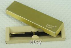 Vintage Montblanc Monte Rosa Black Resin Hexagonal 14K EF Gold nib with original box