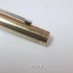 Vintage Sheaffer Targa 1007 Gold Electroplated Fountain Pen 14k Gold Trim USA