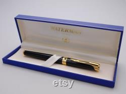 Vintage Waterman L'etalon Black Lacquer Fountain Pen