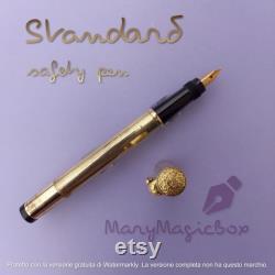 Vintage fountain pen Italian gold overlay
