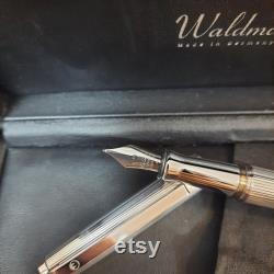 Waldmann Sterling Silver 925 Medium Steel Nib Fountain Pen