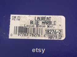 Waterman France Ballpoint Pen and Laureat Blue Fountain Pen Duo